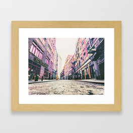 Stone Street - Financial District - New York City Framed Art Print