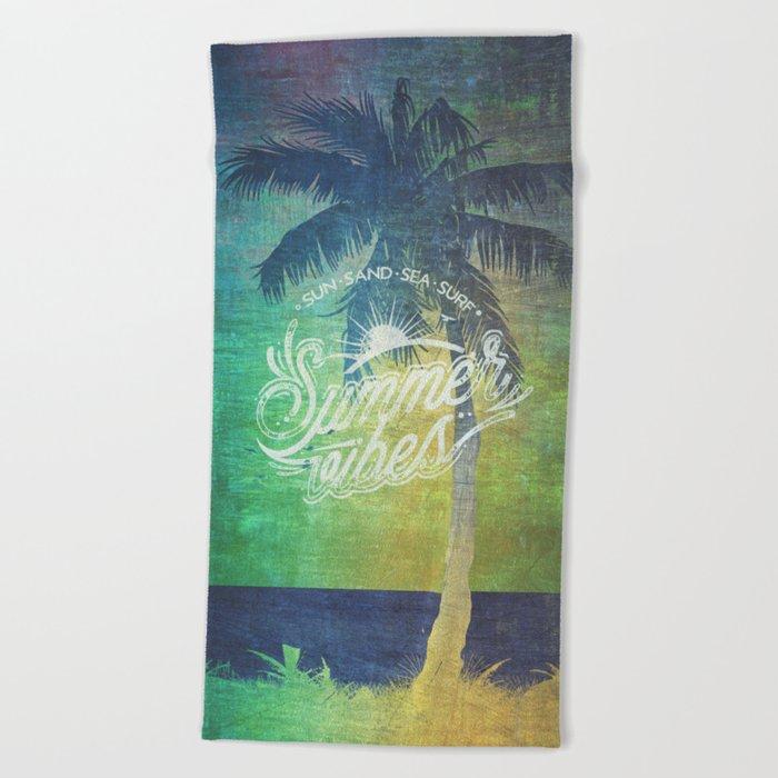 Summer vibes - Mashup edition Beach Towel