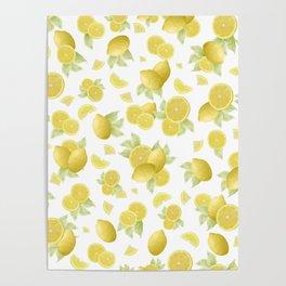 Summer Lemon Twist #1 #tropical #fruit #decor #art #society6 Poster