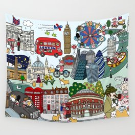 The Queen's London Day Out Wall Tapestry