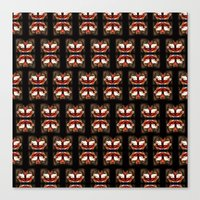 givenchy Canvas Prints featuring Givenchy mask by cvrcak