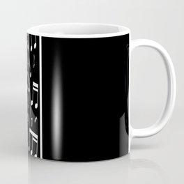 Contemporary black and white music themed Coffee Mug