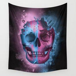 skull black art decor Wall Tapestry
