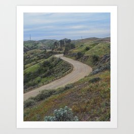 Empty Road Art Print
