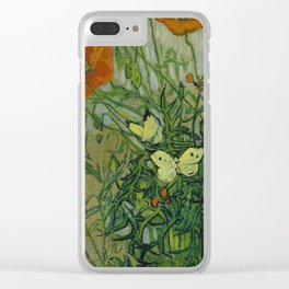 """Vincent Van Gogh """"Butterflies and Poppies"""" Clear iPhone Case"""