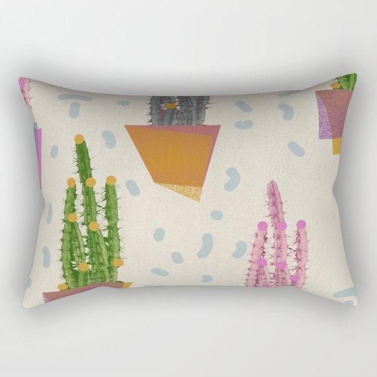 Cacti in the pot Rectangular Pillow