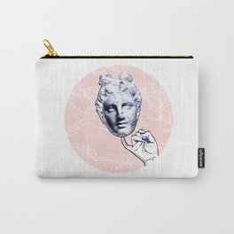 MIND GAME PINK / Marble statue head Carry-All Pouch