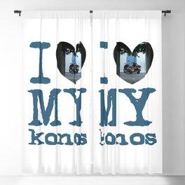 Love Mykonos Blackout Curtain