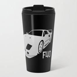 Ferrari F40 - silver - Travel Mug
