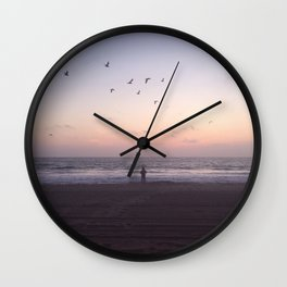 man & the sea Wall Clock