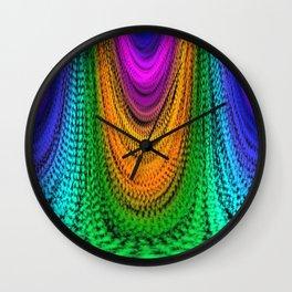 Majestic Sparkling Rainbow Stars Drape Wall Clock