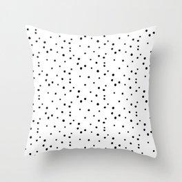 Dalmatian Polka Dots - White/Black Throw Pillow