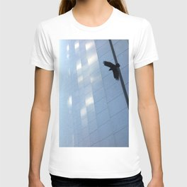Covid Shadow Flying Across Aon Center T-shirt