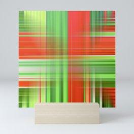 Red And Green Festive Plaid Mini Art Print