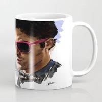 darren criss Mugs featuring Darren by Monika Gross
