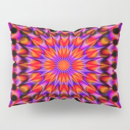 Warp Flow #1 Psychedelic Optical Illusion Trippy Moving Zooming Design Pillow Sham