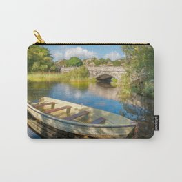Boat At Padarn Lake Llanberis Carry-All Pouch