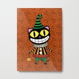 Cassius.Halloween cat Metal Print