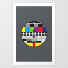 Test Pattern in Charcoal Art Print