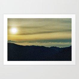 Toscana skies Art Print