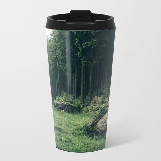 Forest Field - Landscape Photography Metal Travel Mug