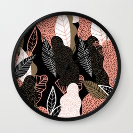 Naive Black Wall Clock