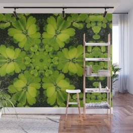 Bright Green Water Plant Wall Mural
