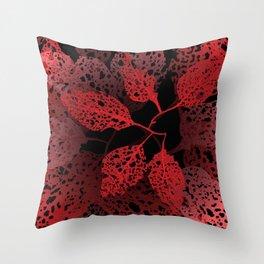 fire autumn Throw Pillow