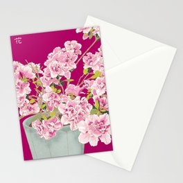 Heavenly Blossom on Pink Stationery Cards