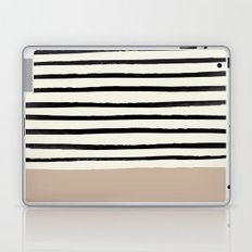 Latte & Stripes Laptop & iPad Skin