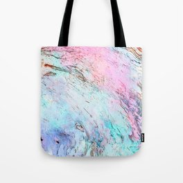 Abstract modern  pink teal lavender watercolor marble Tote Bag