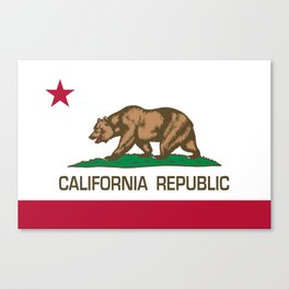 California Republic Flag, High Quality Image Canvas Print
