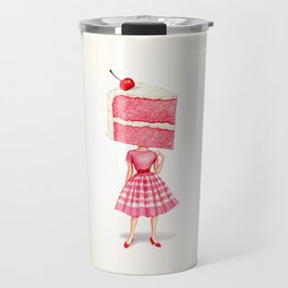 Cake Head Pin-Up - Cherry Travel Mug
