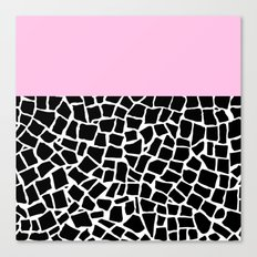 British Mosaic with Pink Boarder Canvas Print