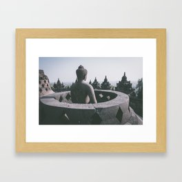 Meditating Buddha, Indonesia Framed Art Print