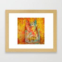 Cat Jar - Pig Framed Art Print
