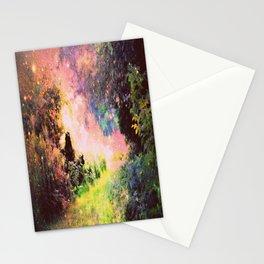 Fantasy Garden Path Deep Pastels Stationery Cards
