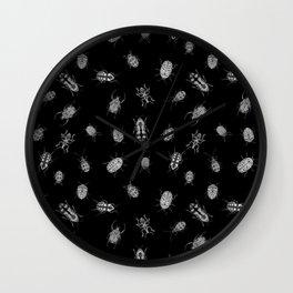 Beautiful Bugs Black Wall Clock
