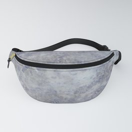 Speckled Blue and Gray Marble Fanny Pack