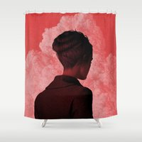 camus Shower Curtains featuring Byronic II by Boris Pelcer