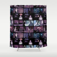 musa Shower Curtains featuring bad person by musa