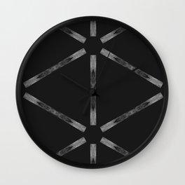Industria Black Minimal Goth Style Wall Clock