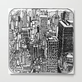 Back In The NYC Metal Print