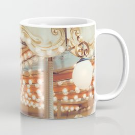 Details of a vintage carousel. Retro toned. Coffee Mug