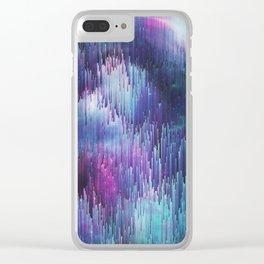 Glitch Galaxy Clear iPhone Case
