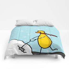Snow Shoveling | Veronica Nagorny Comforters