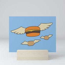 Bob's Burgers Flying Hamburger picture Mini Art Print