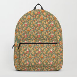 Christmas Green Gingerbread Man Pattern Backpack