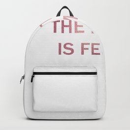The future is female - rosegold Backpack