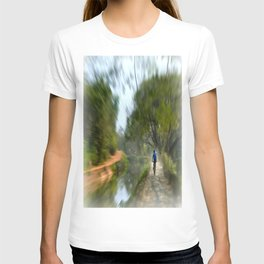 Epic Shot Cycling The Canal Route In Kerala, India T-shirt